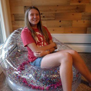 Glitter Inflatable Chair / Bedroom Decor
